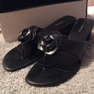 George Black Rose style sandals size 10